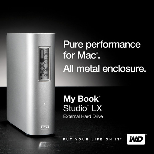 New WD(R) My Book(R) Studio(TM) LX Drive Combines Speed and Intuitive Functionality in a Sleek
