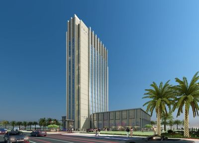 Artist rendering of Rove Za'abeel, the first Rove Hotel, developed by Emaar Hospitality Group in Dubai, which is scheduled to open later this year. Modern, cosmopolitan, smart and cultural, Rove Hotels embody the essence of Dubai's identity. A contemporary new mid-market lifestyle hotel brand, Rove Hotels will roll out 10 properties across central locations in Dubai and the region by 2020. (PRNewsFoto/Emaar Hospitality Group)
