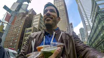 Ally's Splurge Alert app aims to help users avoid locations where they overspend. Splurge Alert sends HGTV's Drew Scott alerts when he nears the smoothie store.