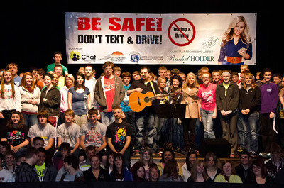 Nashville Recording Artist, Rachel Holder, Visits High Schools Promoting No Texting & Driving with Chat Mobility
