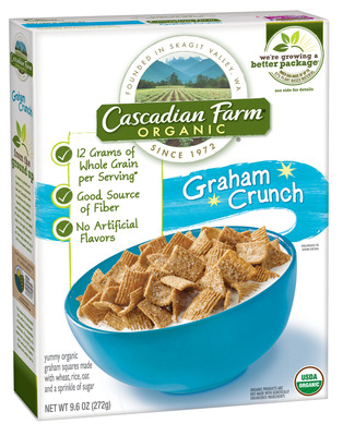 Cascadian Farm(TM) announced new products and an ongoing commitment to sustainability and organic consumers today at Natural Products Expo West in Anaheim, Calif. In the past six months, the leading organic foods brand has introduced two new products - chewy granola bars made with organic pea protein and Graham Crunch Cereal. Additionally, the brand celebrated its recent launch of an important sustainability initiative, launching the first-ever cereal box liner made, in part, from renewable plant sources, and partnered with Flatter World to launch a new campaign that encourages teachers and parents to teach children about organic farming.