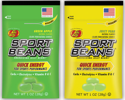 New Juicy Pear and Green Apple Sport Beans(R) Energizing Jelly Beans(R) from the makers of Jelly Belly(R)