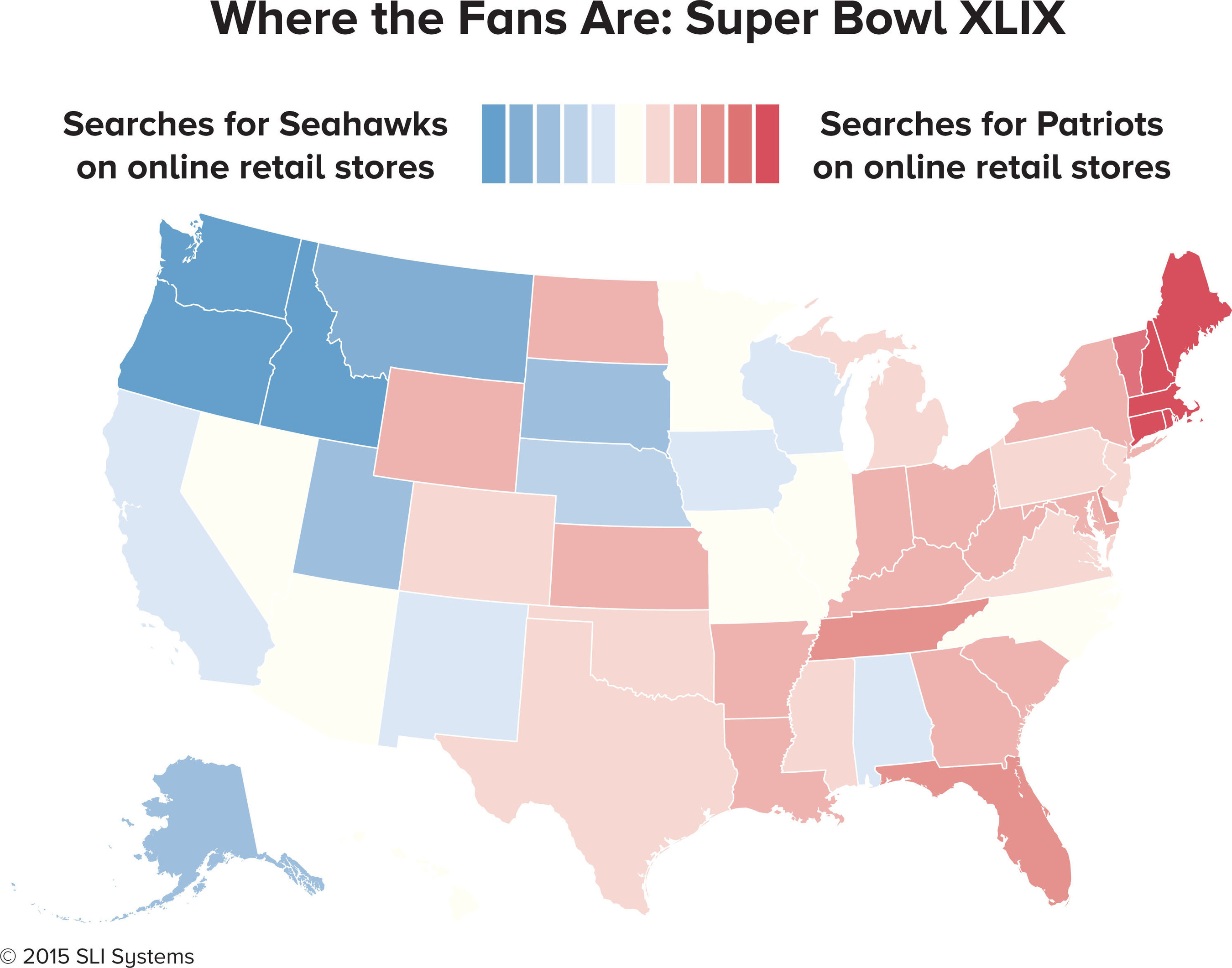 """Super Bowl Map Reveals """"Where the Fans Are"""" with State-by-State Look at Patriots and Seahawks' ..."""