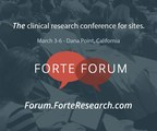 Forte Forum - The clinical research conference for sites. March 3-6 in Dana Point, California.