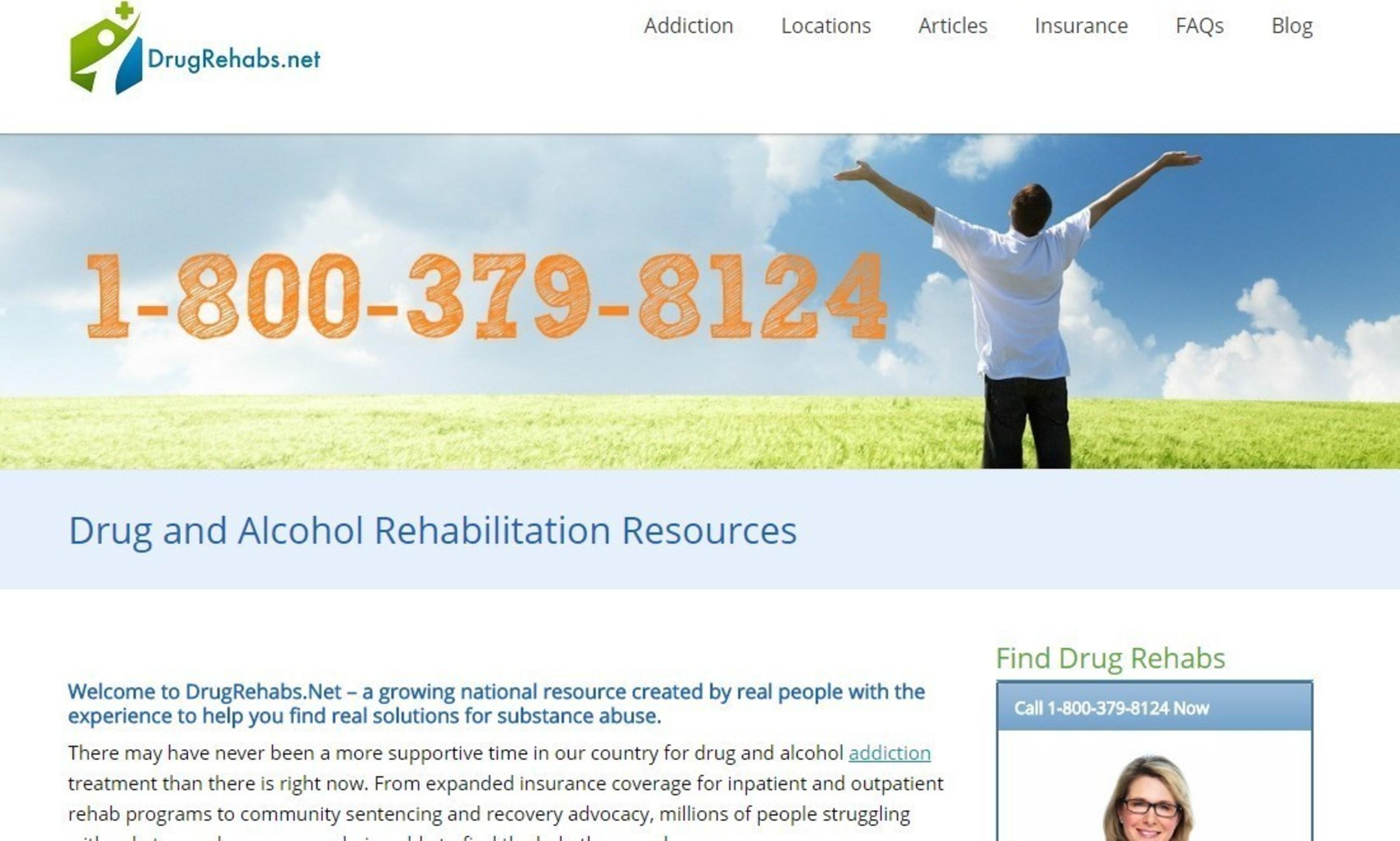 screen shot of DrugRehabs.net