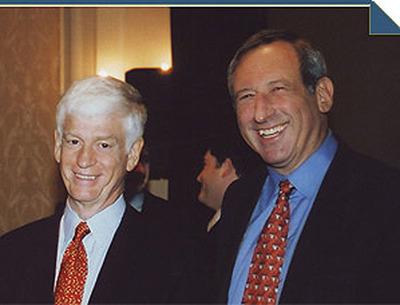 Arthur J. Samberg '67 and Mario J. Gabelli '67 are both members of Columbia Business School's Board of Overseers.  (PRNewsFoto/Columbia Business School)