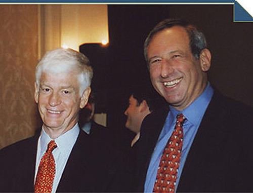 Arthur J. Samberg '67 and Mario J. Gabelli '67 are both members of Columbia Business School's Board  ...