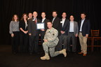 AssetMark's leadership team accepts an award for its Military Time Off Policy.
