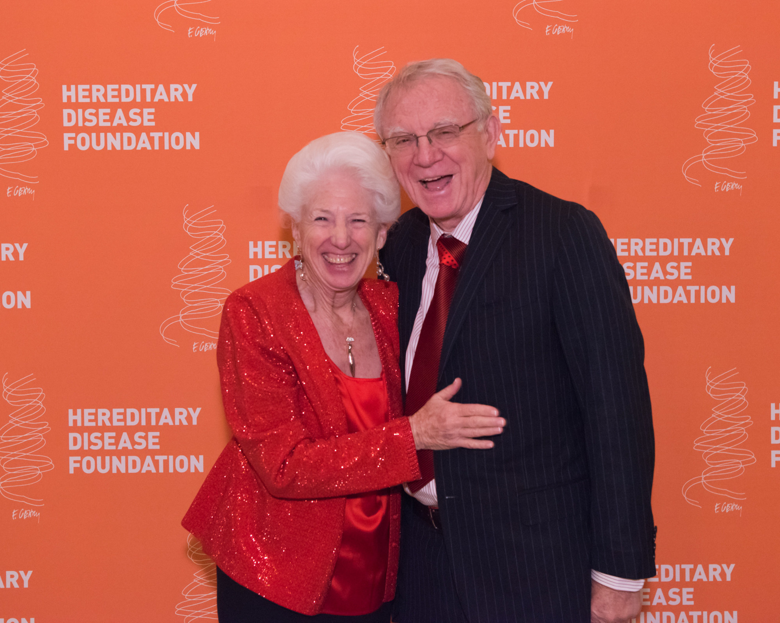 Dr. Nancy Wexler and Dr. Herbert Pardes at the Hereditary Disease Foundation Symposium and Dinner in New York City on November 9th. The event raised $1.2 million to fight Huntington's Disease and other brain disorders.