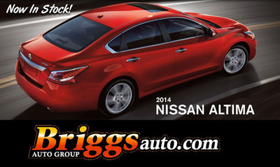 The 2014 Nissan Altima is currently available from Briggs Nissan in Manhattan, Kan.  (PRNewsFoto/Briggs Nissan)