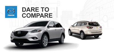Ingram Park Mazda compares 2014 Mazda CX-9 to 2014 Chevy Traverse. (PRNewsFoto/Ingram Park Mazda)