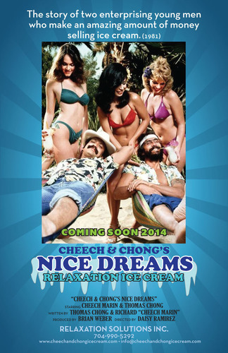 Cheech and Chong Relaxation Ice Cream Coming Soon!(PRNewsFoto/Bebida Beverage Company)