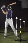 Evan Longoria using the SKLZ Pro X Tee.  (PRNewsFoto/SKLZ)