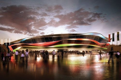 The new National Gymnastics Arena will host Artistic and Rhythmic Gymnastics, as well as the Trampoline competition. The permanent seating capacity is 9,000, but there is an option to temporarily increase it to 12,000, if required. (PRNewsFoto/Baku 2015 European Games)