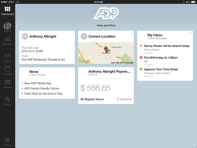 New ADP Mobile Solutions Tablet App Provides Anytime, Anywhere Access to a Large Variety of Key Functions for Managers and Employees