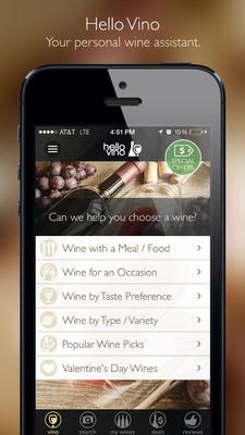 Hello Vino - Wine Assistant App.  (PRNewsFoto/Hello Vino)
