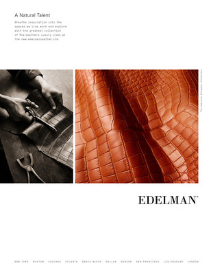 Breathe inspiration into the spaces we live, work and explore with the greatest collection of fine leathers. Luxury lives at the new edelmanleather.com