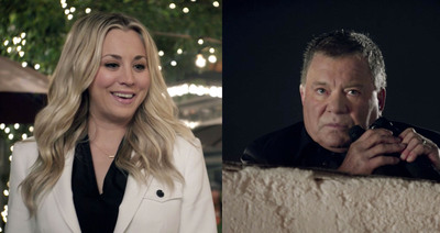 Big Bang's Kaley Cuoco Teams Up with William Shatner for Second Priceline.com Ad.  (PRNewsFoto/The Priceline Group)