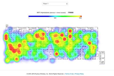 Ruckus SPoT(TM) Location-based Service (heat map)