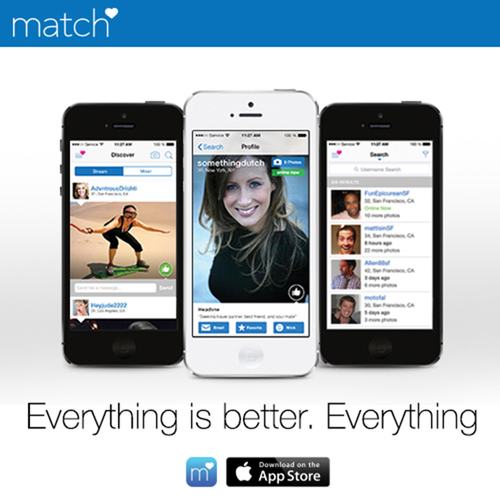 Match launches brand new app for iPhone and iPod Touch (PRNewsFoto/Match.com)