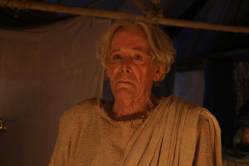 """Peter O'Toole as the Old Testament prophet """"Samuel"""" in the TBN film, """"One Night with the ..."""