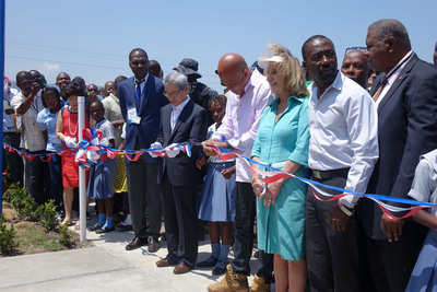 Sae-A Foundation Inaugurates New School in Northern Haiti.  (PRNewsFoto/Sae-A Trading Co., Ltd)