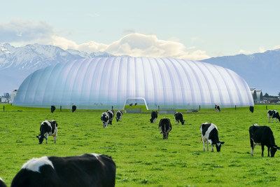 The Zeecol vision for methane management where cows are free to roam in the dome