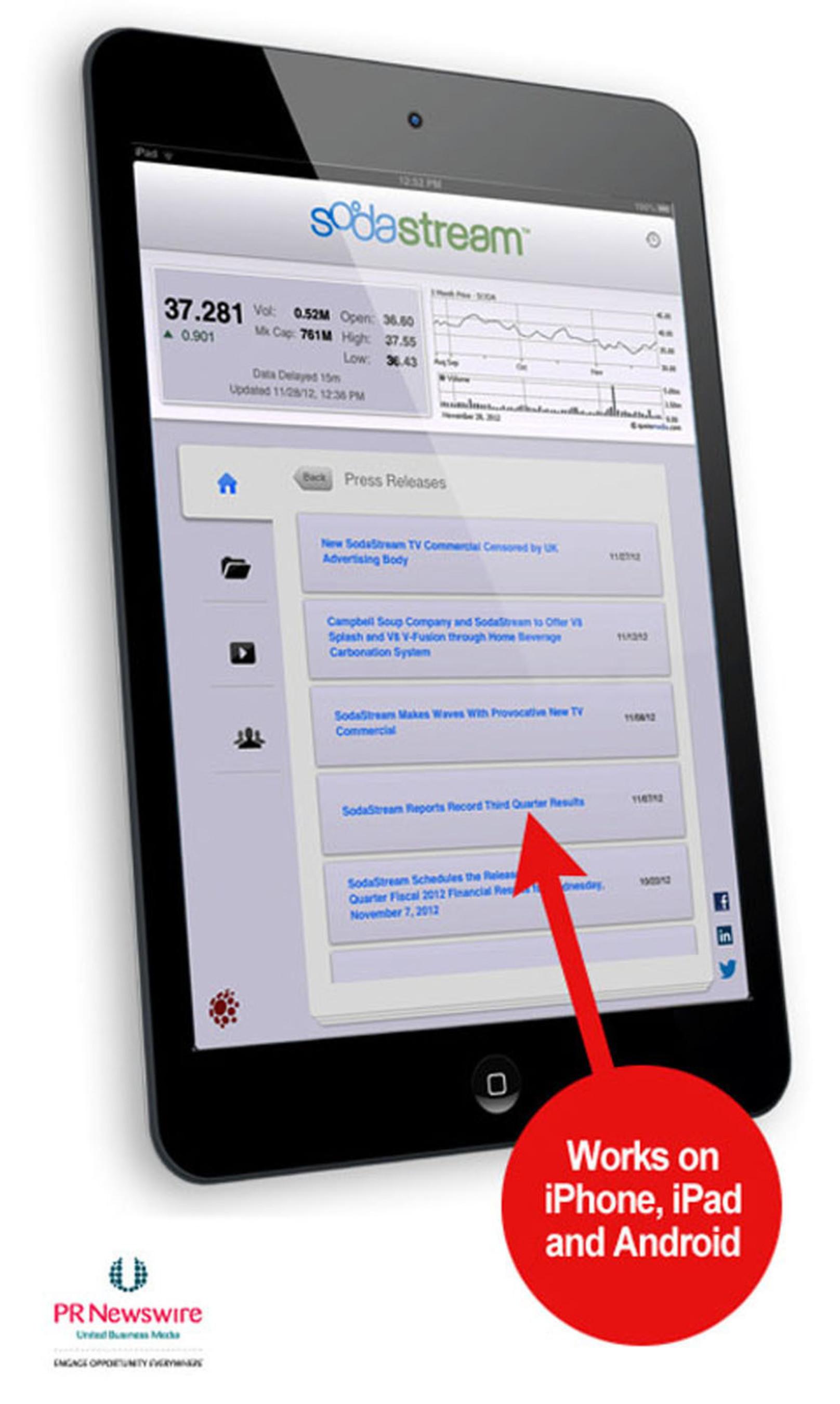 PR Newswire's IR Room App easily reaches a public company's mobile investors.  (PRNewsFoto/PR Newswire Association LLC)