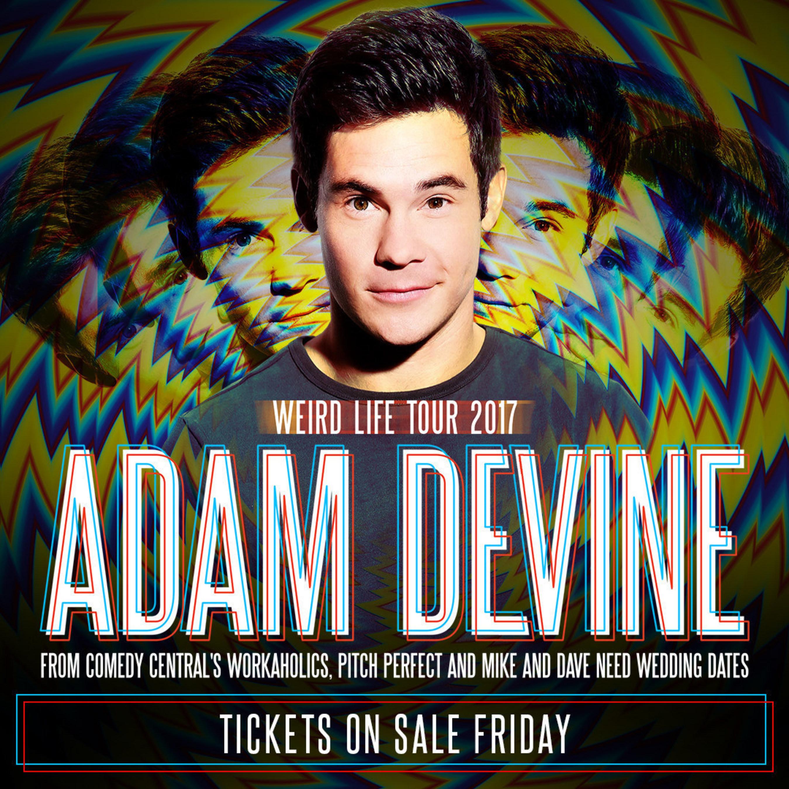 Comedian Adam Devine Set To Embark On 'Weird Life Tour 2017'