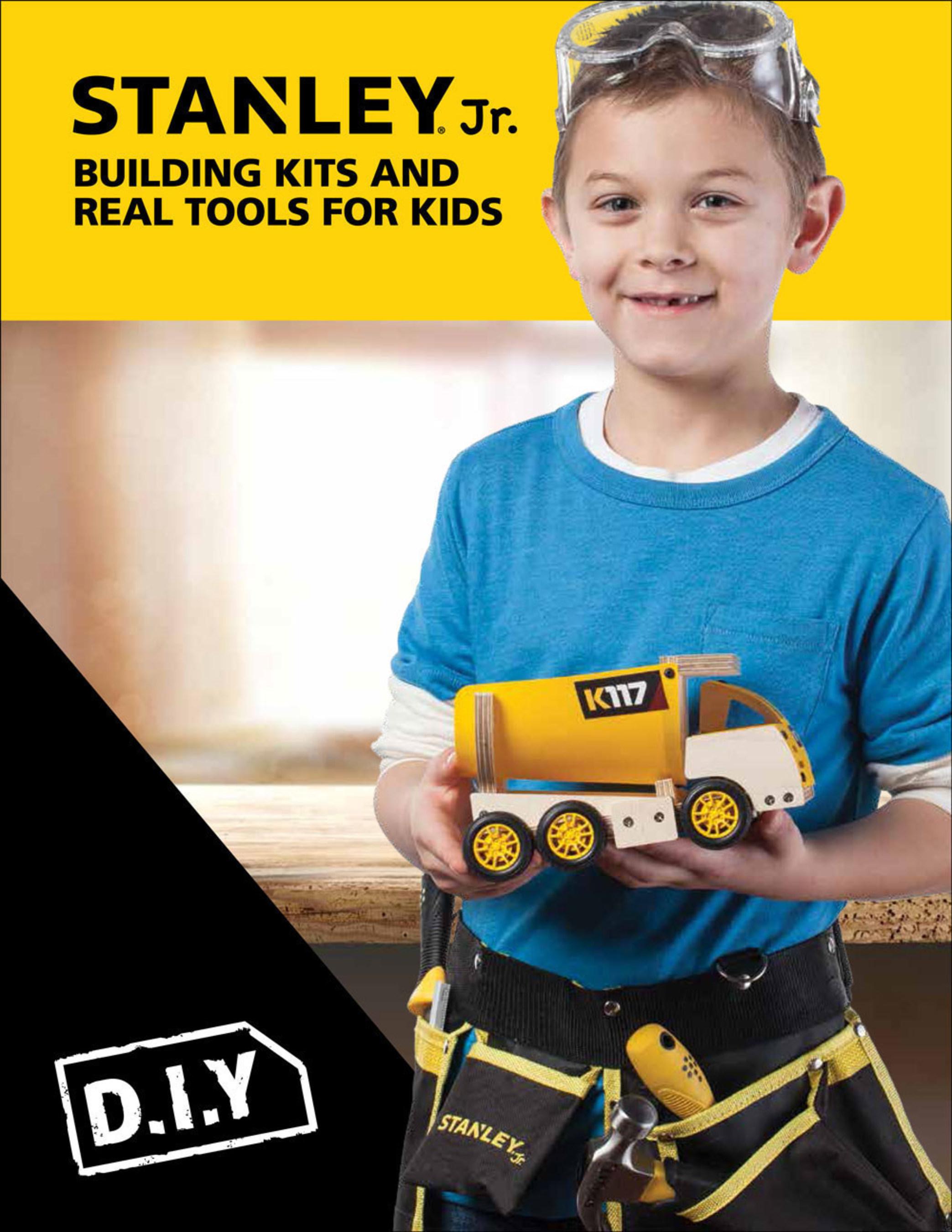 Reeves International Introduces STANLEY® Jr.  DIY Wood Craft & Tool Sets for Kids!