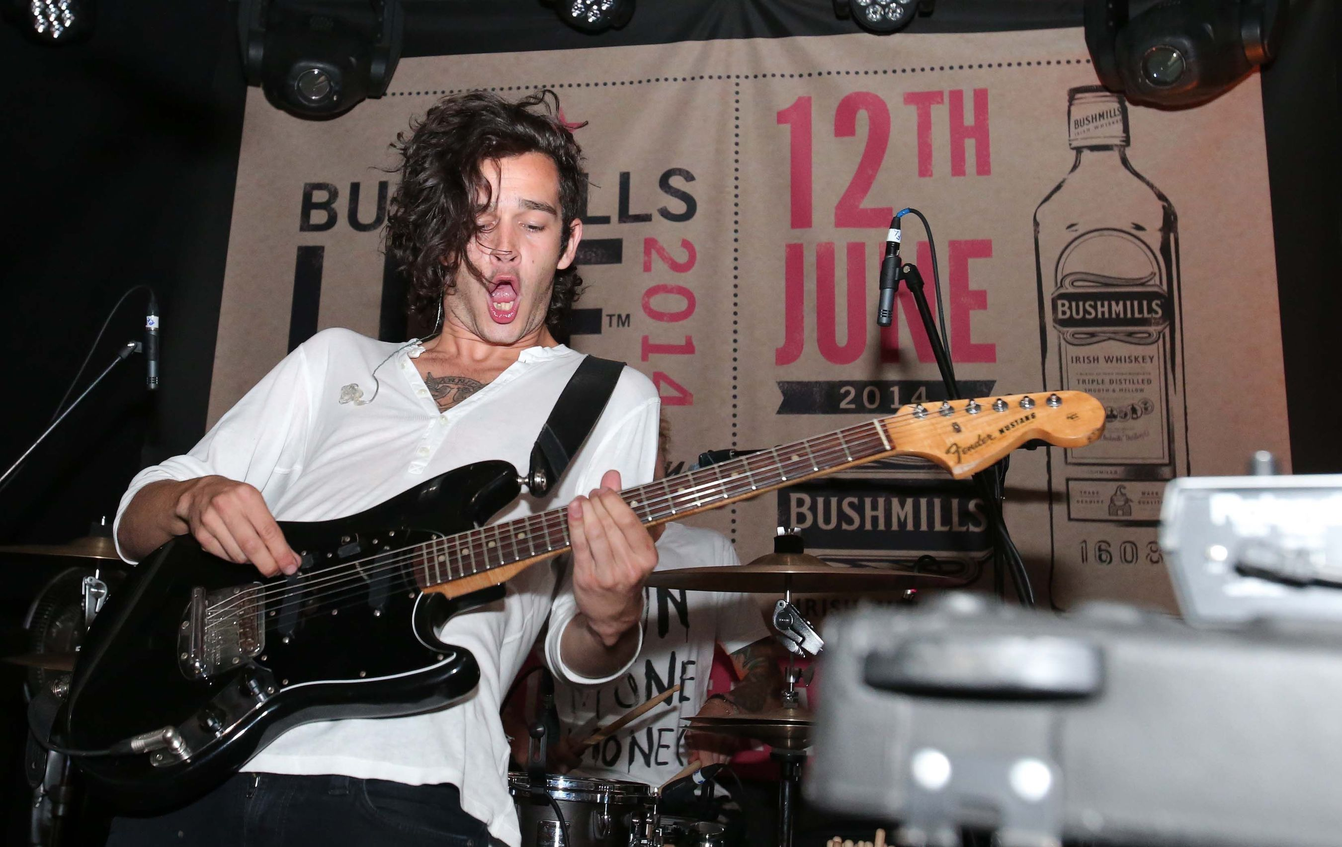 British breakthrough act THE 1975 wow the audience at Bushmills Live 2014, the festival of handcrafted whiskey and music that took place yesterday (Thursday 12th June) at the Old Bushmills Distillery on Ireland's north coast. The intimate festival was attended by 700 music and whiskey fans from around the globe with bands including Gary Lightbody and Peter Buck's supergroup TIRED PONY also on the bill. Artists more used to playing to crowds of thousands performed a series of small gigs in centuries-old buildings at the Old Bushmills Distillery where the art of whiskey-making, perfected over generations, is practised every day. (PRNewsFoto/Bushmills Irish Whiskey)