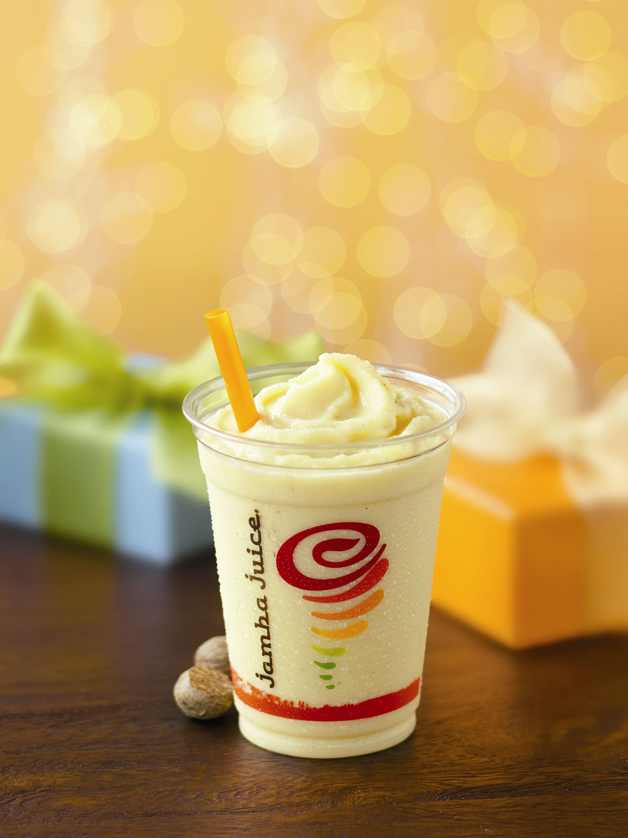 Jamba Juice celebrates the 2013 Holiday Season with the return of Eggnog Jubilee--made with classic spices and flavors to create a delicious drink reminiscent of the tastiest eggnog--available for a limited time only. (PRNewsFoto/Jamba Juice Company) (PRNewsFoto/JAMBA JUICE COMPANY)