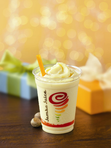 Jamba Juice celebrates the 2013 Holiday Season with the return of Eggnog Jubilee--made with classic spices and ...