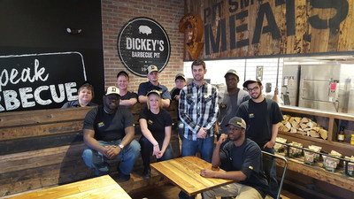 Brandon McBrier and his team open Dickey's Barbecue Pit in Erie, PA on Thursday, April 7.