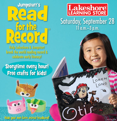 Lakeshore® to Host Nationwide Event in Celebration of Jumpstart's Read for the Record® on September 28