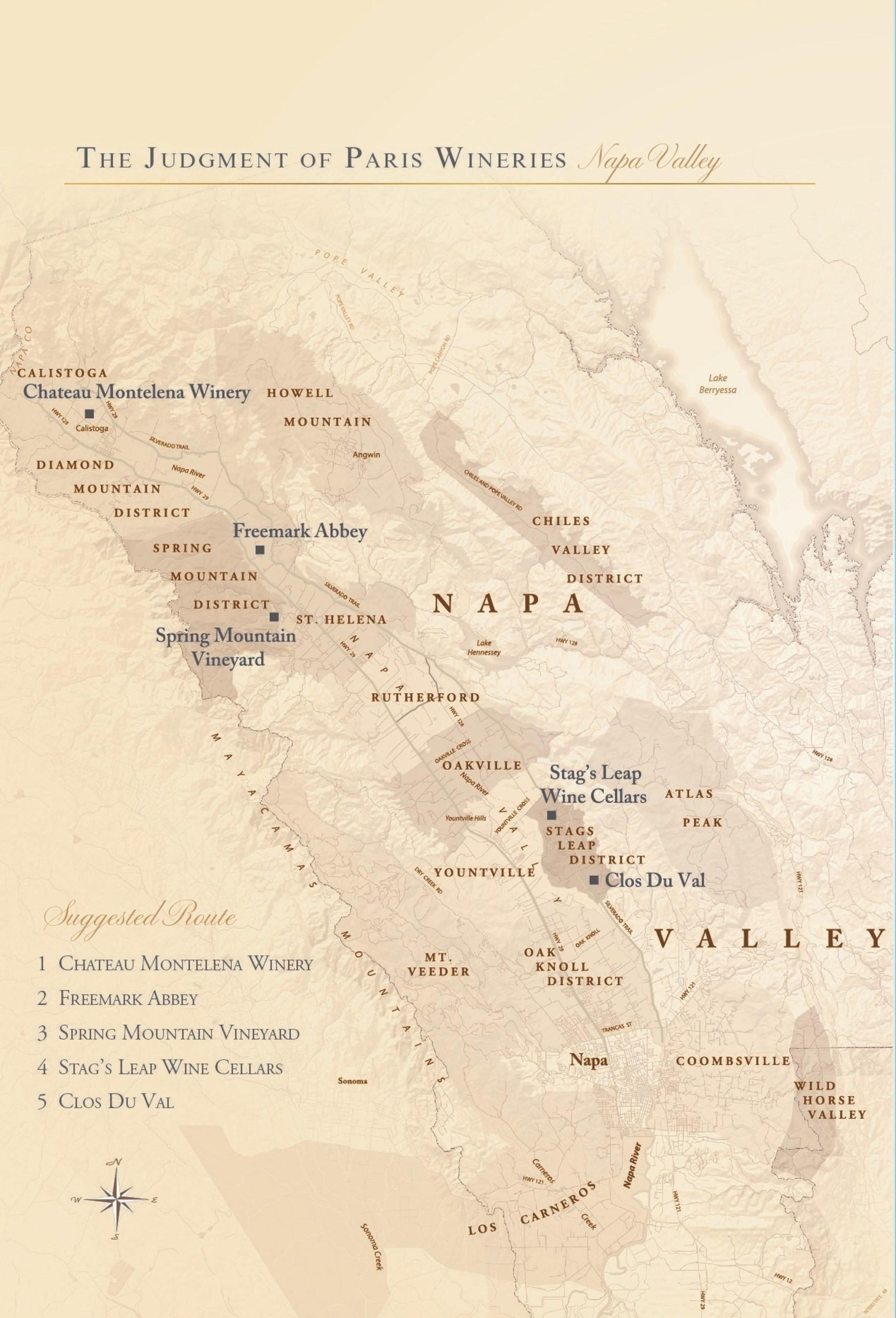 Five Napa Valley Judgment of Paris Participants Offer Joint Tasting Passport