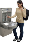 Already making a huge impact on schools and campuses across the country, the Elkay EZH2O bottle filling station delivers a clean, quick water bottle fill and enhances sustainability by minimizing our dependency on disposable plastic bottles.  (PRNewsFoto/Elkay)