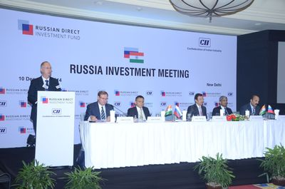 RDIF and CII hosted investment conference in New Delhi (PRNewsFoto/Russian Direct Investment Fund)