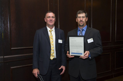 (LEFT) Rod Copeland, Director of Technical Sales, and (RIGHT) Ken Dickson, General Manager, holding the Lockheed Martin Preferred Supplier Program recognition letter.  (PRNewsFoto/Mountain Secure Systems)