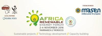 The Africa Renewable Energy Forum, 2-4 November 2016 at The Four Seasons Hotel, Marrakesh