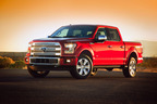 Ford unveiled its all-new F-150 at the 2014 North American International Auto Show in Detroit. The new truck, made from high-strength steel and high-strength aluminum alloys, is lighter, tougher, smarter and more capable than the previous F-150. Ford's F-Series trucks have been the best-selling truck in the U.S. for 37 years. (PRNewsFoto/Ford Motor Company) (PRNewsFoto/FORD MOTOR COMPANY)