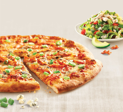 This month zpizza is launching a tasty Buffalo Bleu Pizza Creation and Chopped California Cobb Salad.  (PRNewsFoto/zpizza)