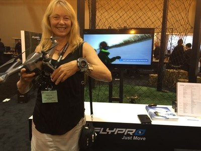 Drone hobbyists visit FLYPRO booth for a hands-on experience of the XEagle