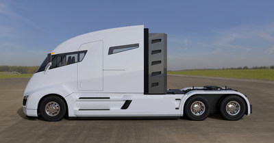 The Nikola One is a 2,000 horsepower, electric, class 8 semi-truck.  The first prototype will debut in early December.
