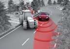 Emergency Steering Assist is a next step in collision avoidance. For example, if you swerve to avoid an obstacle, the system will calculate the optimal trajectory around it and additional steering torque will be applied to help to follow the trajectory and stabilize the car. The driver remains in control of the vehicle and can override the system at all times. (PRNewsFoto/TRW Automotive Holdings Corp.)