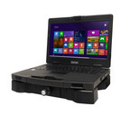 Getac S410 notebook in Gamber-Johnson docking station