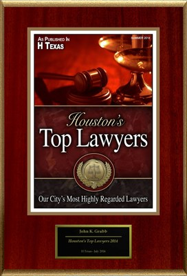"John K. Grubb Selected For ""Houston's Top Lawyers 2014"" (PRNewsFoto/American Registry)"
