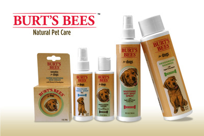 Fetch...for pets! announces a new line of natural pet care products in a licensing partnership with Burt's Bees Licensing, LLC. Burt's Bees(TM) Natural Pet Care will be available at pet specialty stores, including Petco and PetSmart, beginning April 2013 with a range of natural grooming and oral care products specially formulated for dogs.  (PRNewsFoto/Fetch...for pets!)