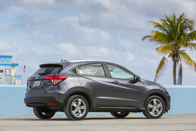 The sporty, functional Honda HR-V enters 2017 with a fresh color and green credentials as it goes on sale tomorrow.