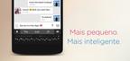 Minuum, um aplicativo de teclado inteligente para Android, esta disponivel no Google Play para teste gratuito de 30 dias. Minuum esta disponivel em ingles, espanhol e portugues. Fonte da imagem: Whirlscape. (PRNewsFoto/Whirlscape)